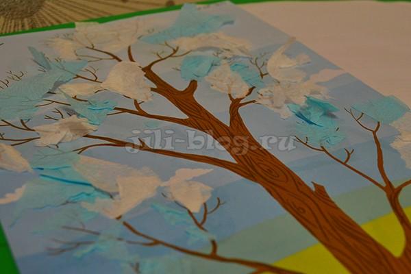 Поделка Снежное дерево