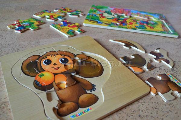 Пазлы для малышей с картинкой-подсказкой