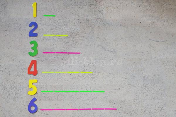 Математическая игра с счетными палочками