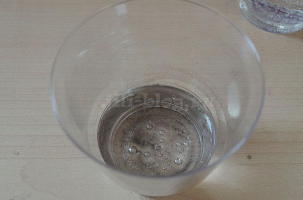 Грязная вода после опыта