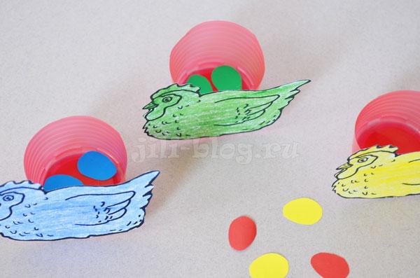 Сортировка яиц по цвету