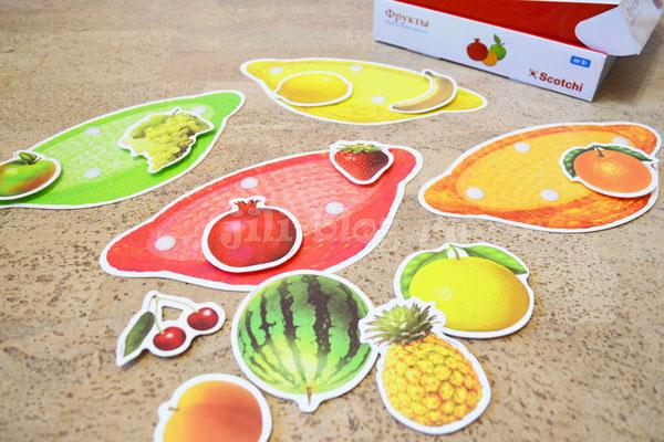 Сортируем овощи и фрукты по цветам