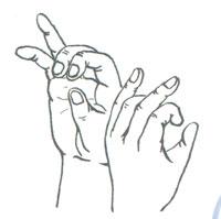 Пальчиковая фигура Дудочка