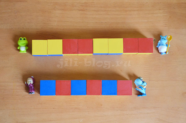 Выкладываем закономерности из кубиков Никитина