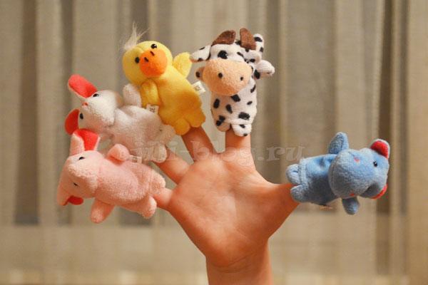 Пальчиковая зарядка с пальчиковыми игрушками