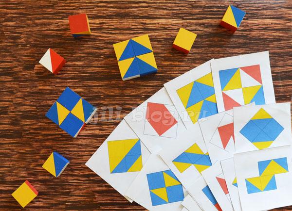 Сложи узор Никитина с карточками