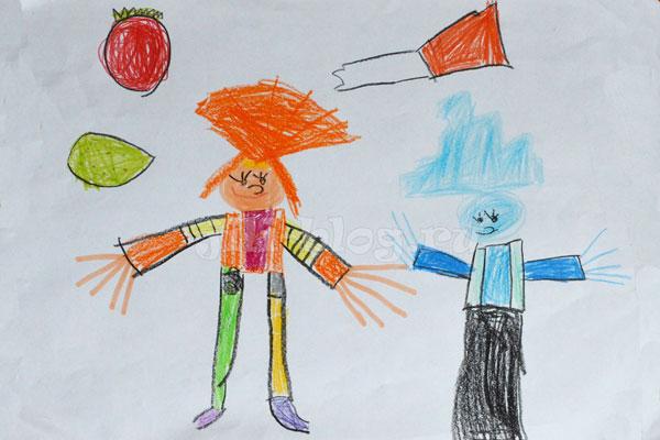 Детский рисунок Фиксики