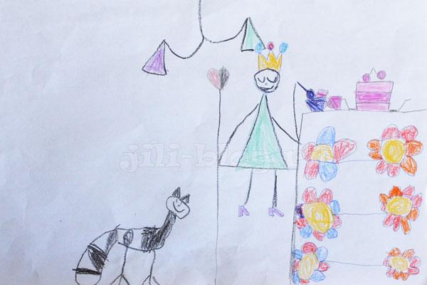 Детский рисунок Завтра принцессы