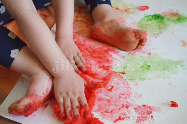 Самодельные пальчиковые краски