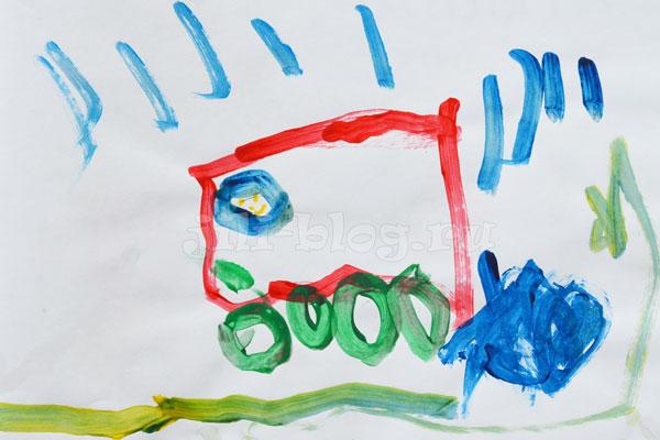 Детский рисунок Машина