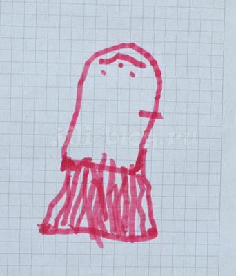 Детский рисунок Медуза