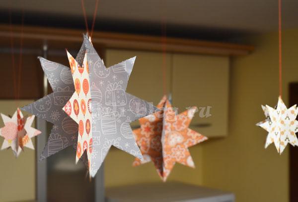 Новогоднее украшение Звезды своими руками