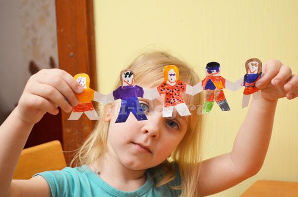 Гирлянда человечки для детей