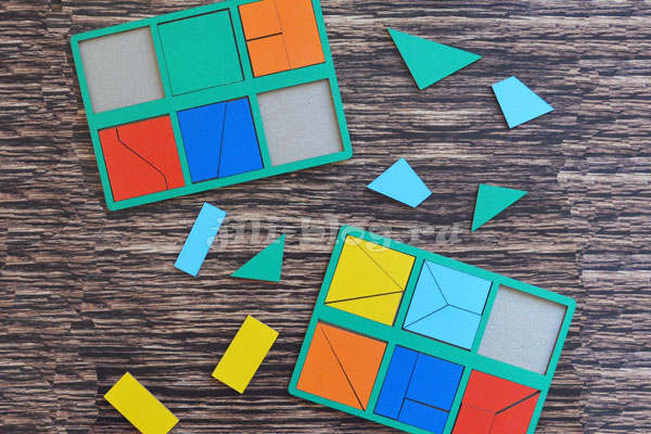 Логическая игра Никитина Сложи квадрат 1 уровень