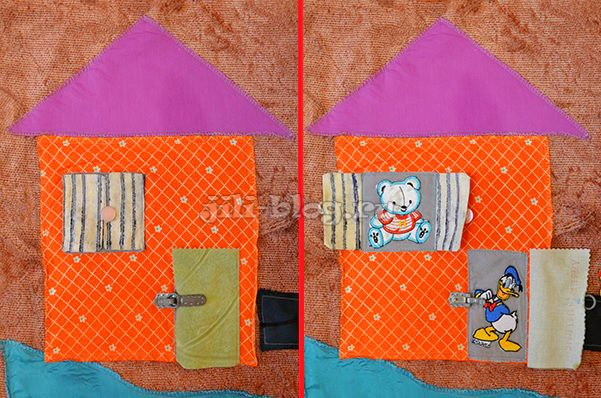 Развивающий коврик с дверями и окошками