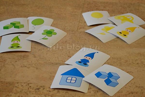 Сортируем карточки по цветам