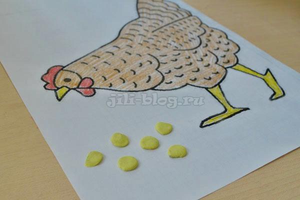 Поделка Курица с зернышками