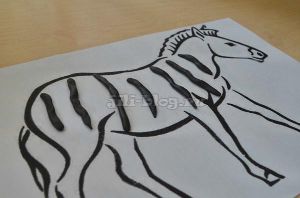 Поделка Полоски для зебры