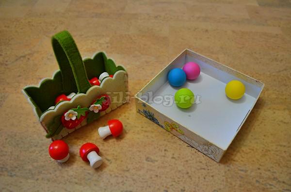 Игры с коробочками, корзинками