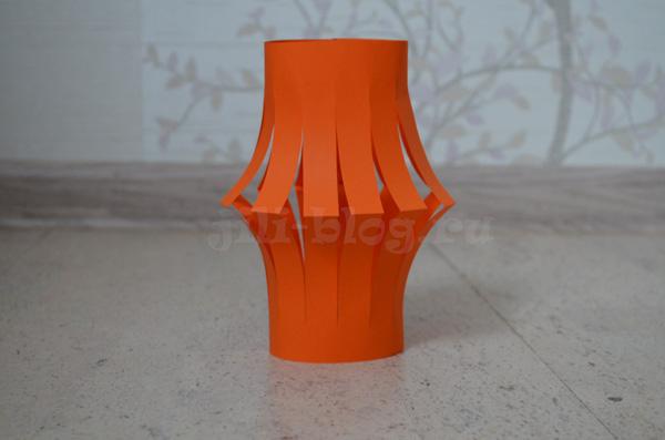 Поделка фонарик из бумаги