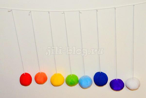 Самодельные разноцветные шарики