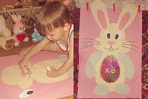 Аппликация Пасхальный кролик