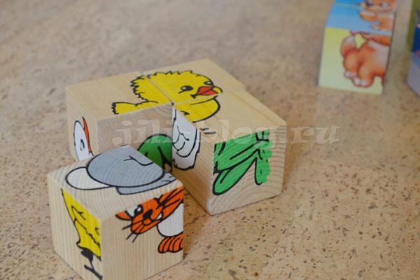 Играем с кубиками-пазлами