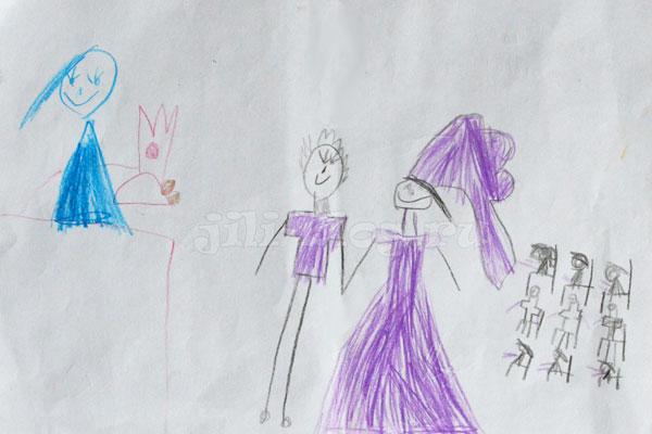 Детский рисунок Свадьба