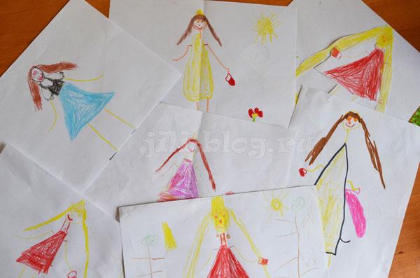 Детский рисунок Принцессы