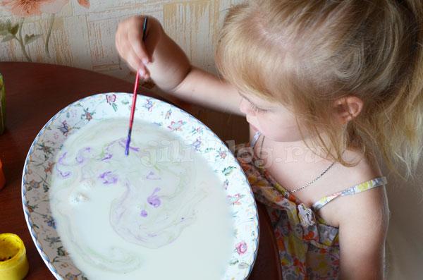 Рисование на молоке. Нетрадиционные техники рисования