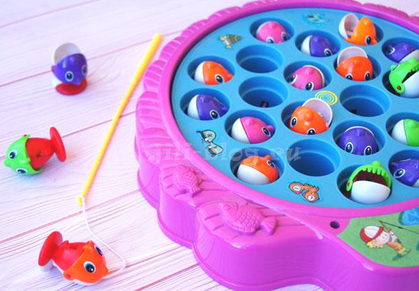 Настольные игры для детей 3-4 лет Рыбалка механическая