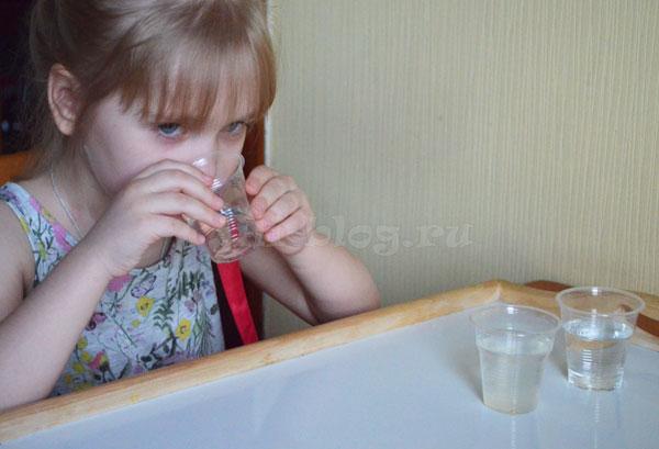 Опыты с водой для детей
