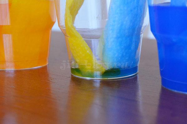 Эксперимент с водой и пищевыми красителями