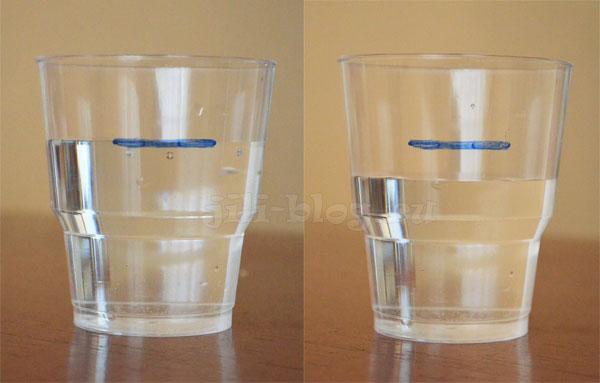 Опыт с испарением воды